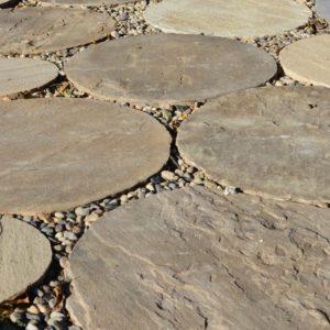 אבן מדרך עגולה דגם הר